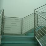 Scala per uffici in - acciaio e vetro TECOS (3)