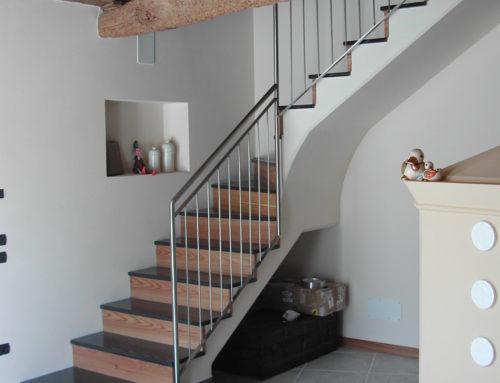 Ringhiera per scala in abitazione privata